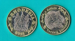 Rhodesia 5 Dollars 2018 - Bimetal - Monete