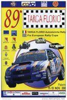 Affiche RALLY POSTER ORIGINALE 35X48 89 TARGA FLORIO SUBARU LONGHI L1 - Manifesti