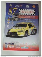 Affiche RALLY POSTER ORIGINALE 35X48 87 TARGA FLORIO FIAT PUNTO ANDREUCCI L1 - Manifesti