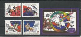 COMORES Scott 695-698 700 Yvert 496-498 PA273 BF55 (4+bloc) ** Cote 16,75 $ 1989 - Comores (1975-...)