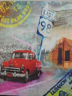 STAMPA SU TELA AUTO ROUTE 98 30X40 CON TELAIO PRONTA DA APPENDERE - Stampe & Incisioni