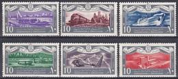 Ägypten Egypt 1959 Geschichte History Revolution Schiffe Ships Eisenbahnen Railways Lokomotiven Trains, Mi. 563-8 ** - Egypt