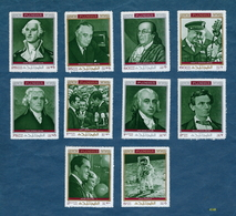 Fujeira Stamps Featuring US Presidents, Benjamin Franklin, And A US Astronaut [#4148] - Famous People