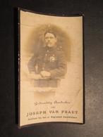VP BELGIQUE (M1902) DOODSPRENTJE (2 Vues) JOSEPH VAN PRAET BUGGENHOUT 23/1/1893 - WEESTROOSEBEKE 3/10/1918 - Décès