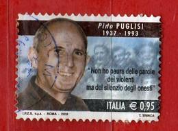 Italia °- 2018 -  PINO PUGLISI. , Viaggiato .  Usato-   Vedi Descrizione. - 6. 1946-.. Repubblica