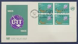 1965 FDC, I.T.U., U.I.T., New York, United Nations - FDC
