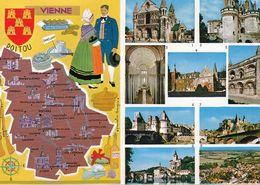 255  Carte Postale  Poitiers 86 Vienne Dissay  Saint Savin  Ligugé  Civray  Chatellerault  Angles Sur Anglin  Montmorill - France
