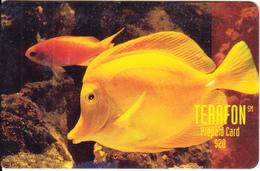 PUERTO RICO - Longsnout Butterfly Fish, Terafon Prepaid Card $20, Exp.date 04/97, Used - Puerto Rico