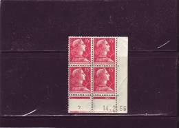 N°1011 -15F REPUBLIQUE DE MULLER - AT De AT+AU -1° Tirage Du 31.1 Au 7.3.56 - 14.02.1956. - Coins Datés