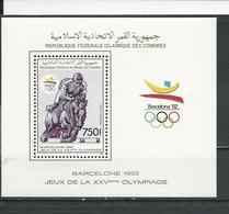 COMORES Scott 712 Yvert BF56 (bloc) ** Cote 7,00 $ 1989 - Comores (1975-...)