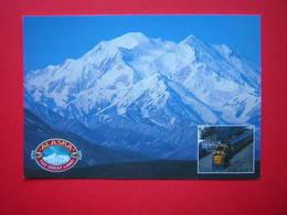 CPM FORMAT 16.5 X 11.3 CM ALASKA  THE GREAT LAND DENALI NATIONAL PARK AND PRESERVE  En Petit Un Train  NON VOYAGEE - Etats-Unis