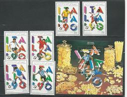 COMORES Scott 728-733 735 Yvert 506D-506G PA287-PA288 BF58 (6+bloc) ** Cote 17,75 $ 1990 - Comores (1975-...)
