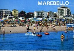 Marebello - Di Rimini - Alberghi E Spiaggia Vista Dal Mare - Formato Grande Viaggiata – E 10 - Rimini