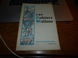 CB6 Les Cahiers Wallons Nov 1951 Dialecte Camille Delvigne - Cultuur
