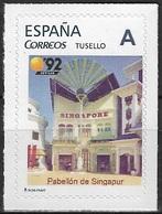 ESPAÑA. TUSELLO. EXPO'92 SEVILLA. PABELLON DE SINGAPUR - 1931-Hoy: 2ª República - ... Juan Carlos I