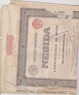 BELGIE , CORPHALIE PRES DE HUY  ~  OBLIGATION, SHARE, ACTION    --   NEBIDA  ~   EXPLOITATION DE MINES  ~  1910 - Bergbau