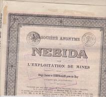 BELGIE , CORPHALIE PRES DE HUY  ~  OBLIGATION, SHARE, ACTION    --   NEBIDA  ~   EXPLOITATION DE MINES - Bergbau