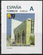 ESPAÑA. TUSELLO. EXPO'92 SEVILLA. PABELLON DE PAKISTAN - 1931-Hoy: 2ª República - ... Juan Carlos I