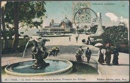 NICE - La Jetée - Promenade Et Les Jardins. Fontaine Des Tritons - Places, Squares