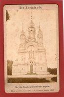 (86) Photo Originale Sur Carton 1883 Die Rheinlande Russisch Griechische Kapelle  Phot. Sophus Williams Berlin 11 X 7cm - Wiesbaden
