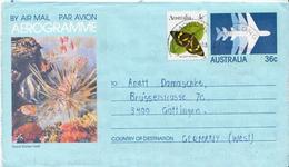 Postal History: Australia Used Aerogramme - Marine Life