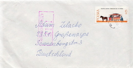 Postal History: Poland Used Cover With Cenzored (?) Cancel - 1944-.... Republic