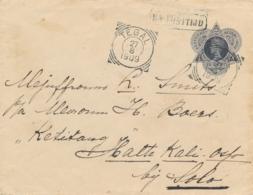 Nederlands Indië - 1909 - 10 Cent Envelop Na Posttijd Van L GOENDIH Via VK Tegal Naar Omgeving Solo - Niederländisch-Indien
