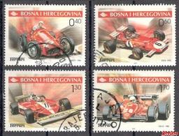 Bosnia Sarajevo -  Ferrari Cars  2001 Used Set - Bosnie-Herzegovine