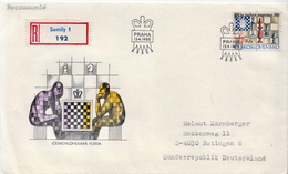 Postal History: Czechoslovakia Registered Chess FDC - Chess