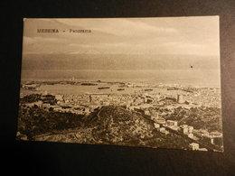 19850) MESSINA PANORAMA Ed BRUNNER NON VIAGGIATA 1903 RETRO NON DIVISO CURIOSA SCRITTA STAMPATI - Messina