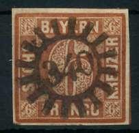 BAYERN QUADRATE Nr 4II GMR 340 Zentrisch Gestempelt X882076 - Bayern