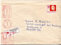 Postal History: Turkey R Postal Stationery Cover With Macine Stamp - 1921-... Republic