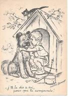 Berger De Brie - Briard - Chat, Niche, Enfant, Child, Cat, Katze, Par Illustrateur Germanie Bouret / Modern Format - Bouret, Germaine