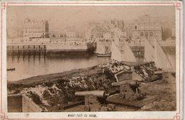 (86) Photo Originale Sur Carton  Avant Port Du Havre Fin 1800. 16 X 11cm - Le Havre