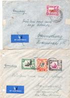 Postal History: K.U.T. 2 Covers From 1938 With KGV - Kenya, Uganda & Tanganyika