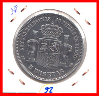 ESPAÑA MONEDA DE (( AMADEO I REY DE ESPAÑA MONEDA DE PLATA )) 5 PESETAS ( EL DURO ) AÑO 1871 - Primeras Acuñaciones