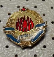 SFRJ Yugoslavia Coat Of Arms Blason 29.11.1943 Pin - Administrations
