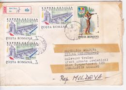Romania , Roumanie To Moldova , 1992 , EXPO-92 Sevilla , Olimpiade Albertville , Used Cover - 1948-.... Republics