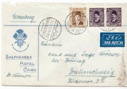 Postal History: Egypt Cover 1938 Sent From Shepheard's Hotel Cairo - Egypt