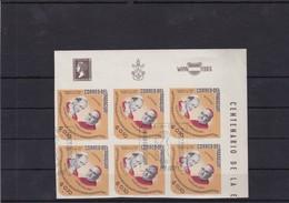SS PAULO VI F CARD SPELLMAN-ENCUENTRO DURANTE VISITA A NUEVA YORK. TIMBRE BLOC NON DENTELE OBLITERE FDC 1966-RARE- BLEUP - Popes