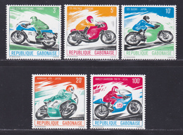 GABON N°  360 à 364 ** MNH Neufs Sans Charnière, TB (D8155) Motos, Motocyclettes - 1976 - Gabon