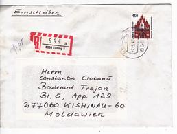 1993 , Germany  To Moldova , Churche , Used Cover - [7] Federal Republic