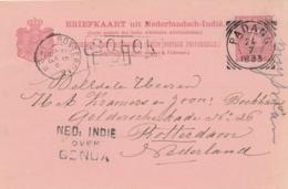 Nederlands Indië - 1893 - 7,5 Cent Briefkaart Van L SOLOK Via Padang En OVER GENUA Naar Rotterdam / Nederland - Niederländisch-Indien