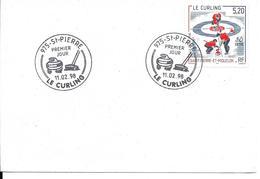 JEUX OLYMPIQUES D'HIVER NAGANO - OLYMPICS WINTER GAMES 1998 - CURLING - FDC SAINT PIERRE MIQUELON - Hiver 1998: Nagano