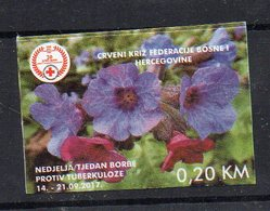 BOSNIE-HERZEGOVINE - RED-CROSS - CROIX-ROUGE - FLEURS - FLOWERS - 2017 - - Bosnia Herzegovina