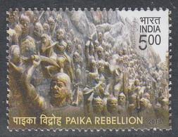 INDIA 2018  PAIKA  Rebellion. 1v.   ,MNH(**) - Nuevos