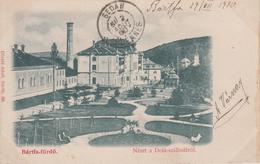 CPA Précurseur Slovaquie - Bartfa-fürdo - Nézet A Deak-szallodarol (voyagé En 1900) - Slovacchia