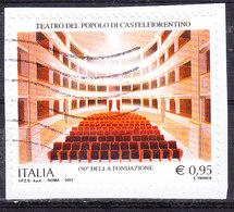 2017  TEATRO CASTELFIORENTINO  USATO - 6. 1946-.. Repubblica