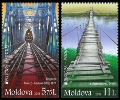 "MOLDAVIA/ MOLDOVA/ MOLDAWIEN/ MOLDAU - EUROPA 2018 -TEMA ANUAL - ""PUENTES.- BRIDGES - BRÜCKEN - PONTS"" -  SERIE 2 V. - 2018"