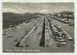 RICCIONE -VISIONE DELLA GRANDE SPIAGGIA  VIAGGIATA FG - Rimini